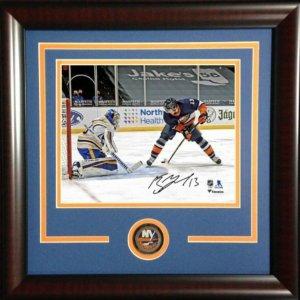 Mathew Barzal New York Islanders Autographed Goal Between The Legs Photograph