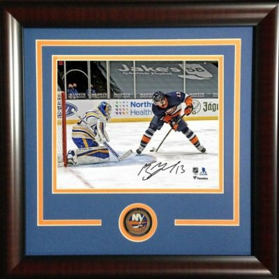 Mathew Barzal New York Islanders Autographed Goal Between The Legs Photograph