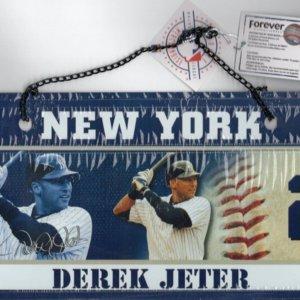 Derek Jeter New York Yankees Metal Sign
