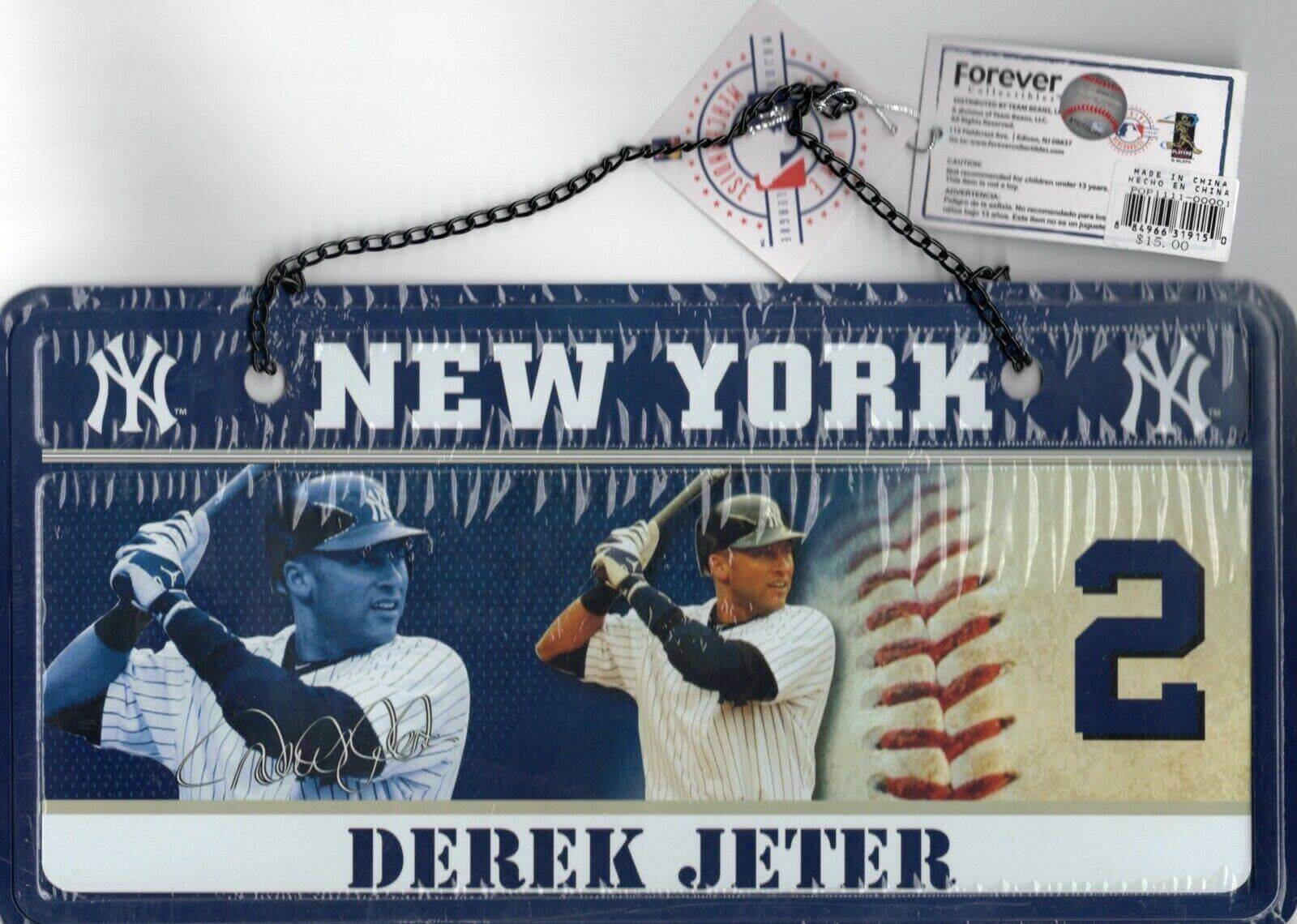 Derek Jeter New York Yankees Metal Sign