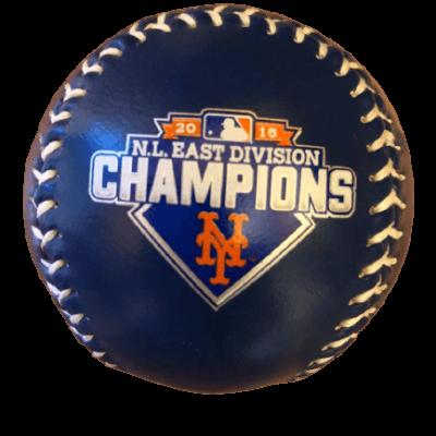 NY METS MLB 2015 NATIONAL LEAGUE EAST DIVISION CHAMPIONS BASEBALL SOUVENIR BALL