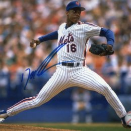 """Dwight """"Doc"""" Gooden Signed New York Mets Photo Auto"""