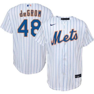 acob deGrom New York Mets Youth Home Replica Player Jersey
