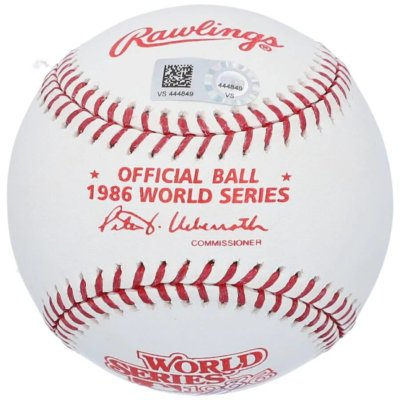 """Dwight Gooden New York Mets Fanatics Authentic Autographed 1986 World Series Logo Baseball with """"86 WS Champs"""""""
