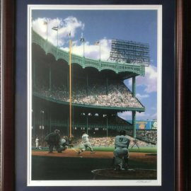 Mickey Mantle Roger Maris Signed Bill Purdom Litho Yankee Stadium /799 Framed