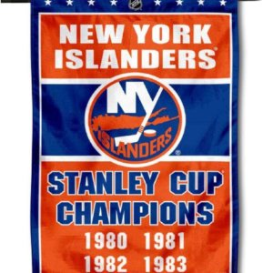 New York Islanders 4 Time Stanley Cup Champions Double Sided Garden Flag