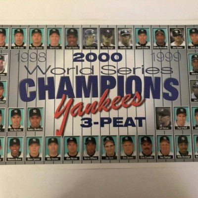 New York Yankees World Series Champions 3-Peat Poster