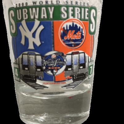 2000 Subway Series NY Mets NY Yankees World Series Shot glass