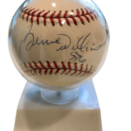 Yankees 100th anniversary baseball signed by Bernie Williams