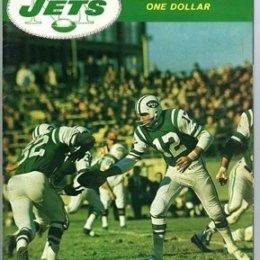 JOE NAMATH NEW YORK JETS YEARBOOK-1968