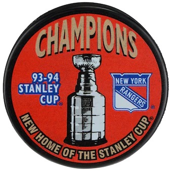 New York Rangers 1994 Stanley Cup Champions Hockey Puck