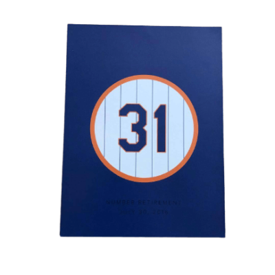 MIKE PIAZZA-TOPPS JULY 30,2016 Mets Retire Mike Piazza's No. 31