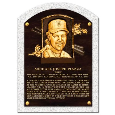 Mike Piazza New York Mets Baseball Hall of Fame Legend Plaque