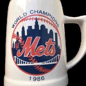 1986 ceramic World Champs NY Mets mug