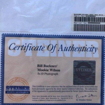 Bill Buckner, Mookie Wilson New York Mets  Autographed 8″ x 10″ 1986 World Series
