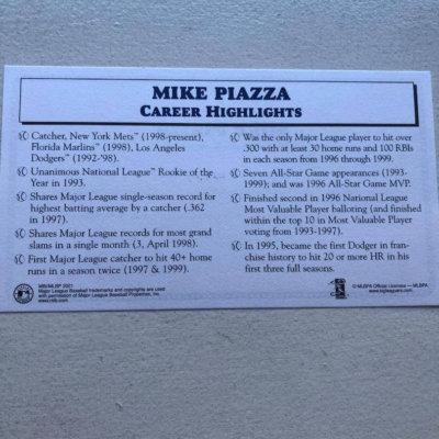 Mike Piazza Mets MLB All Star Figurine 1999 Danbury Mint