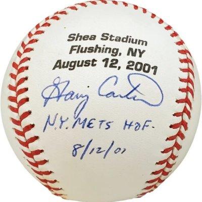 Gary Carter New York Mets Signed N.Y Mets Baseball HOF