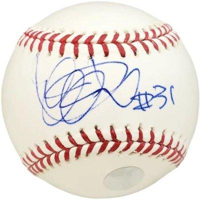 """Click to expand Ichiro Suzuki New York Yankees Signed MLB Baseball """"#31"""""""
